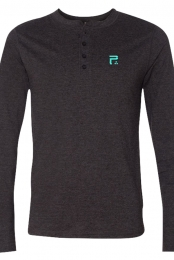 Icon Long Sleeve Henley (Dark Grey Heather)