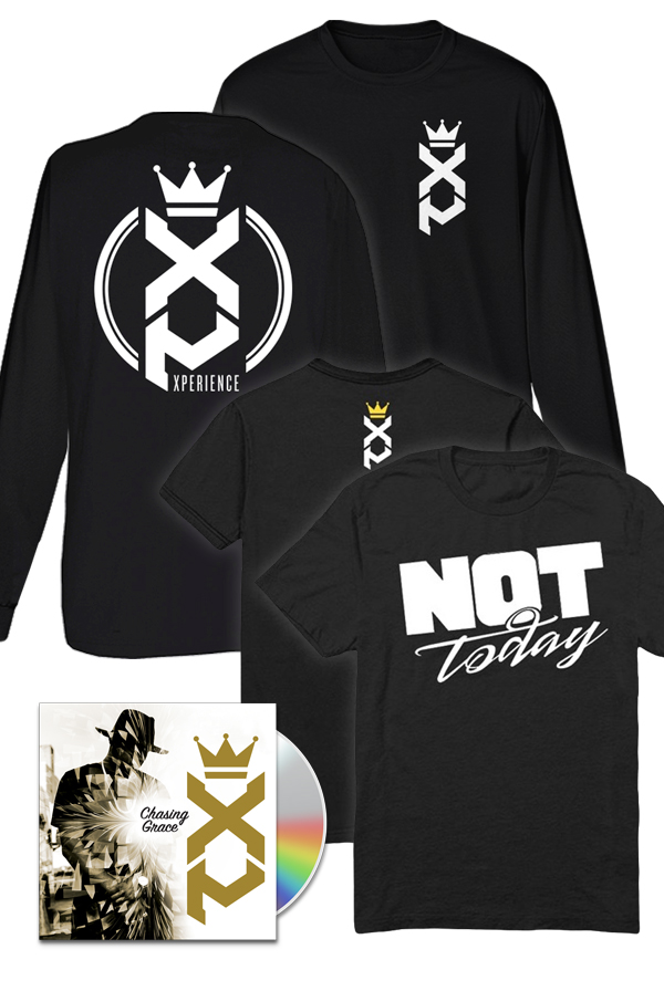 Chasing Grace CD/Digital + Not Today  (black) + XP - Long Sleeve (black) + Entry to XP GOLDEN TICKET Contest