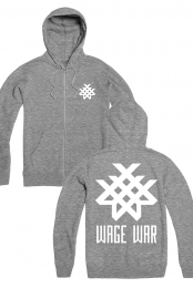 Logo Zip Up Hoodie (Heather Grey)