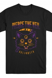 Halloween Cat Tee (Black)