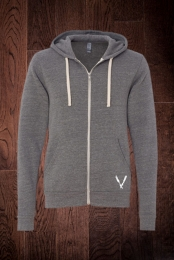 Fleece Zip Up Hoodie (Grey Tri-Blend)
