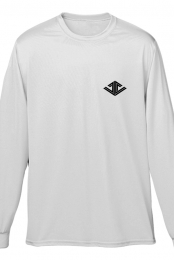 Justin Caruso Logo Longsleeve Tee (White)