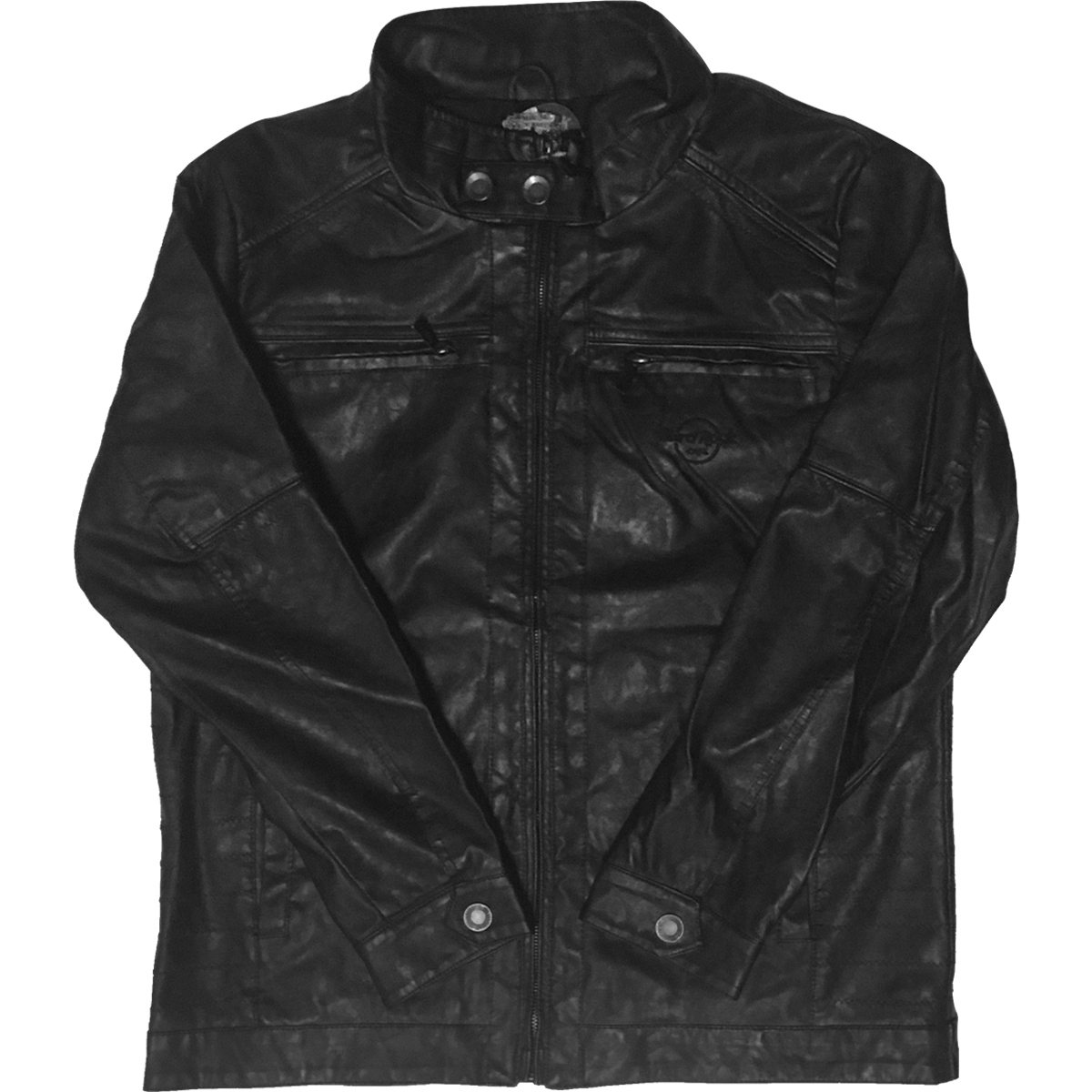 Guitar Company Washed Vegan Leather Jacket 0