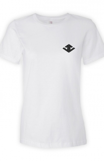 Justin Caruso Logo Womens Tee (White)