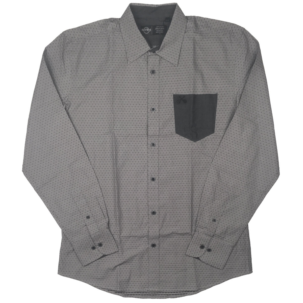 Mens Black Label Contrast Pocket Shirt  0