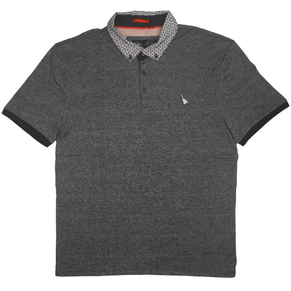 Mens Black Label Marled Polo 0