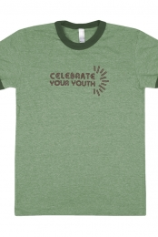 Celebrate Ladies Ringer Tee (Grass Green)