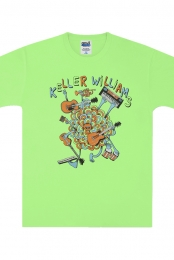 One Man Band Kids Tee (Neon Green)