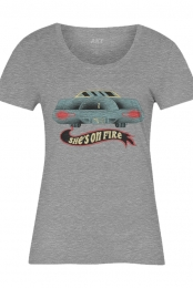 Lincoln On Fire Ladies Tee