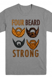 Four Beards Strong Tee (Heather Grey)