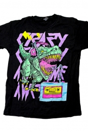 Crazy Crazy Awesome Awesome Dinosaur Band Tee