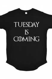 Tuesday Is Coming Long Tail Tee (Black)
