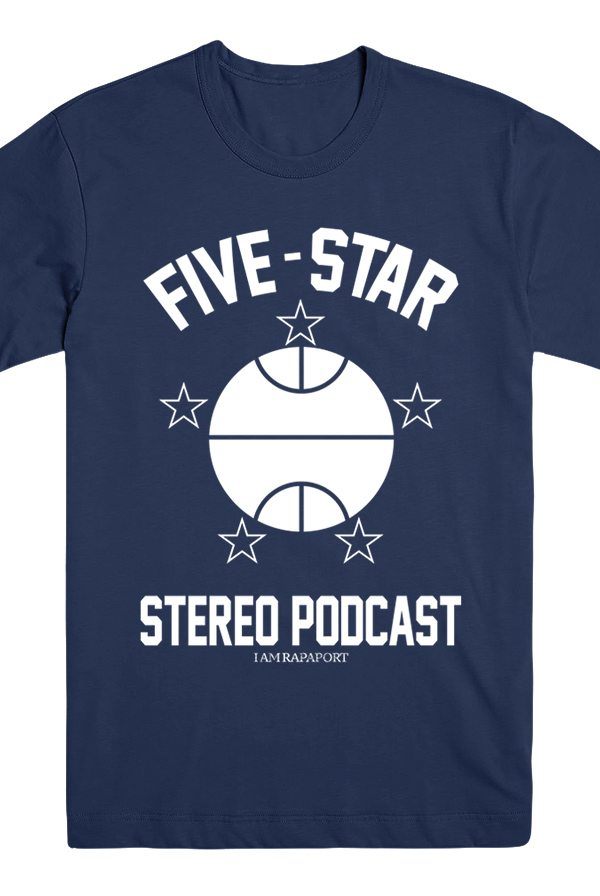 Five Star Stereo Podcast Tee (Navy)