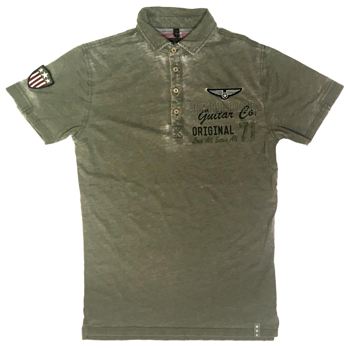 Mens Guitar Company Burnout Military Polo 1fe6b7b2d7