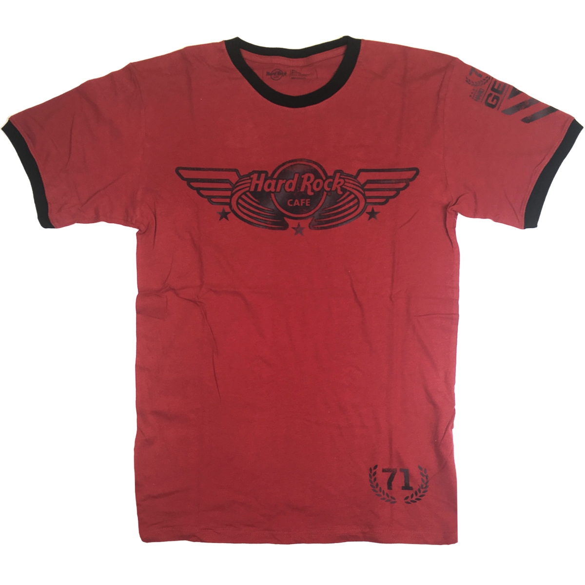 Mens Winged Military Ringer Tee  0