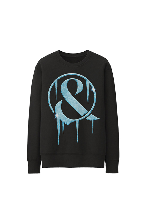 Frozen Ampersand Crewneck (Black)