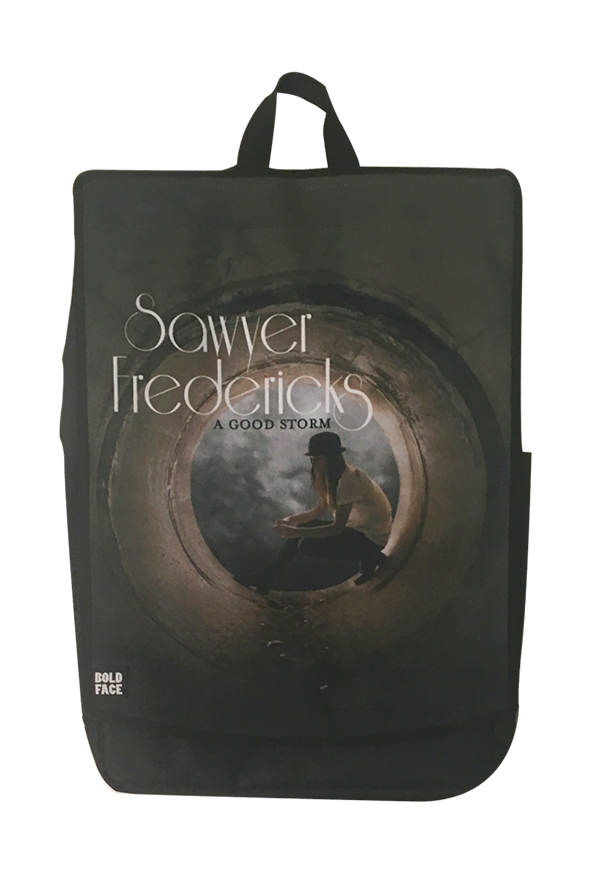 Boldface Backpack with A Good Storm Album Art Face
