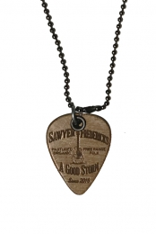 Wood Guitar Pick Necklace,  Free Range Folk, A Good Storm Design