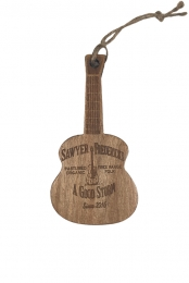 Wood Guitar Ornament. Free Range Folk, A Good Storm Design