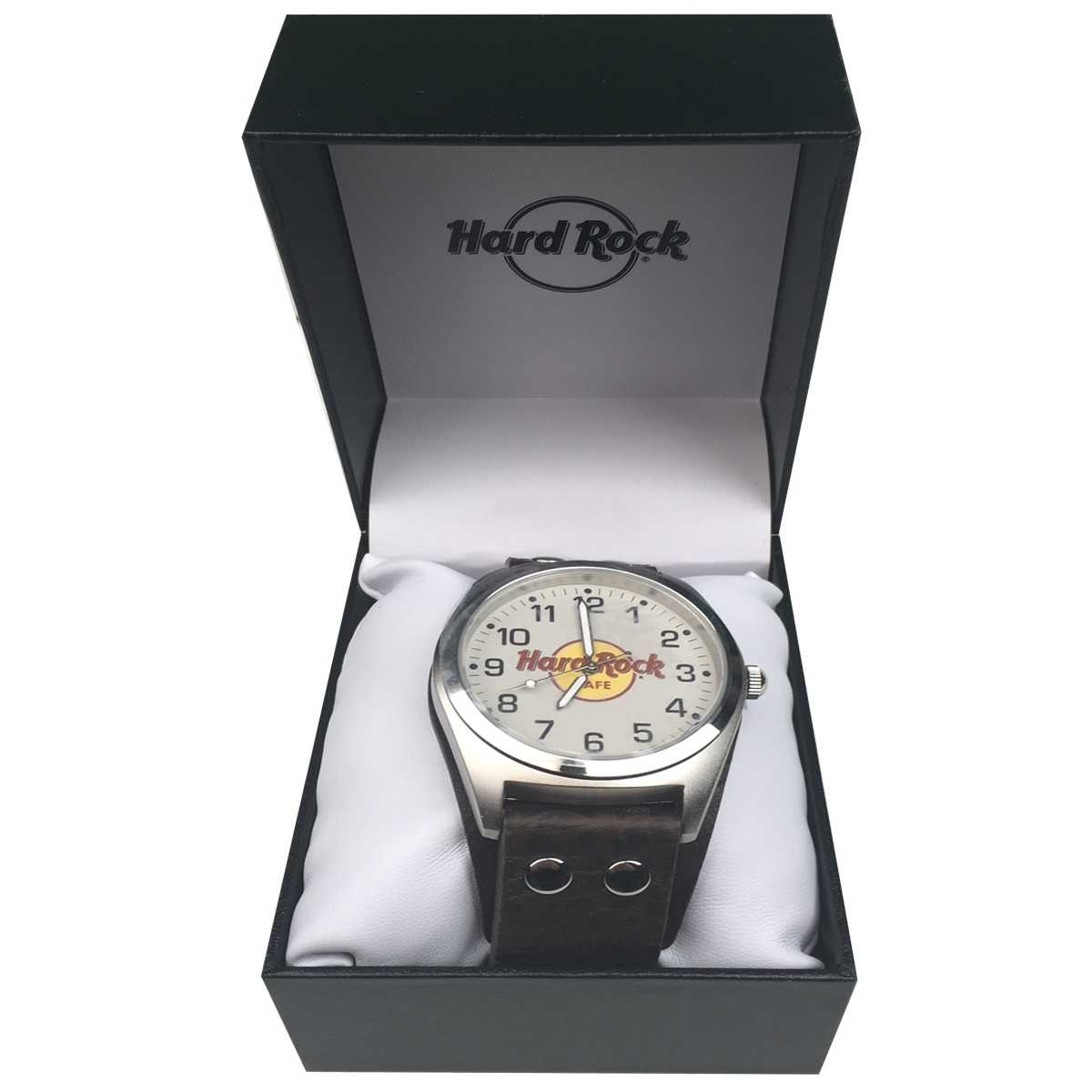 Classic Logo Leather Watch Brown 1