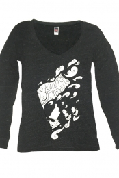 Storm Bearer Ladies Long Sleeve V-Neck T-Shirt