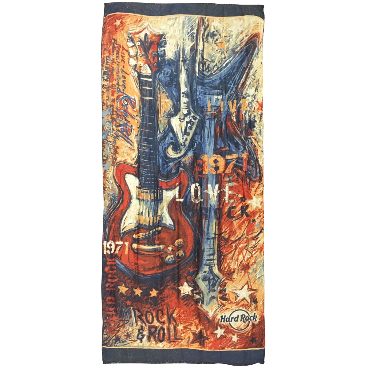 Painted Guitars Scarf 0