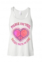 Faith In Love Racerback Tank (White)