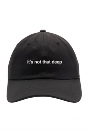 it's not that deep hat (black)
