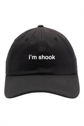 i'm shook hat (black)
