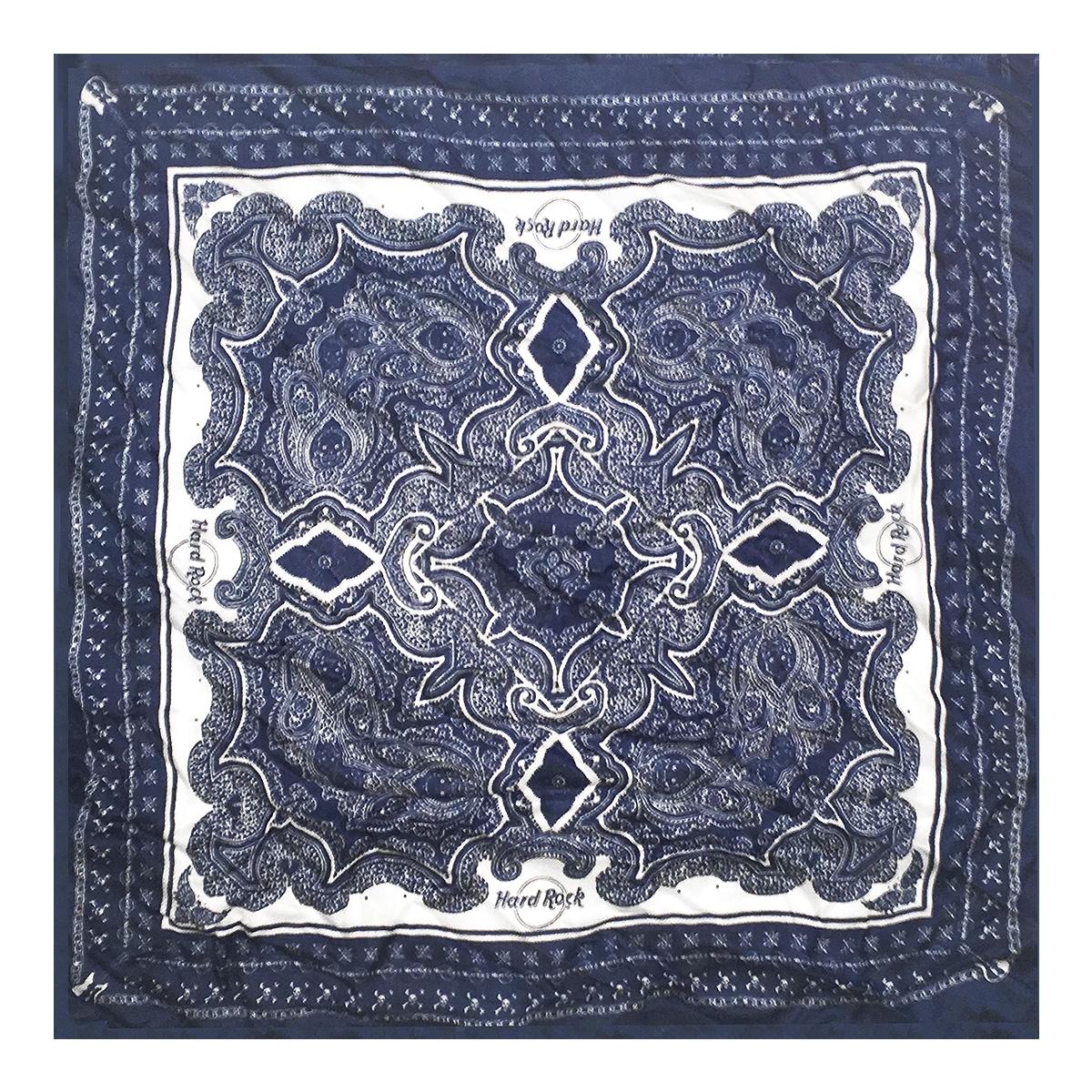 Square Paisley Bandana Blue 0