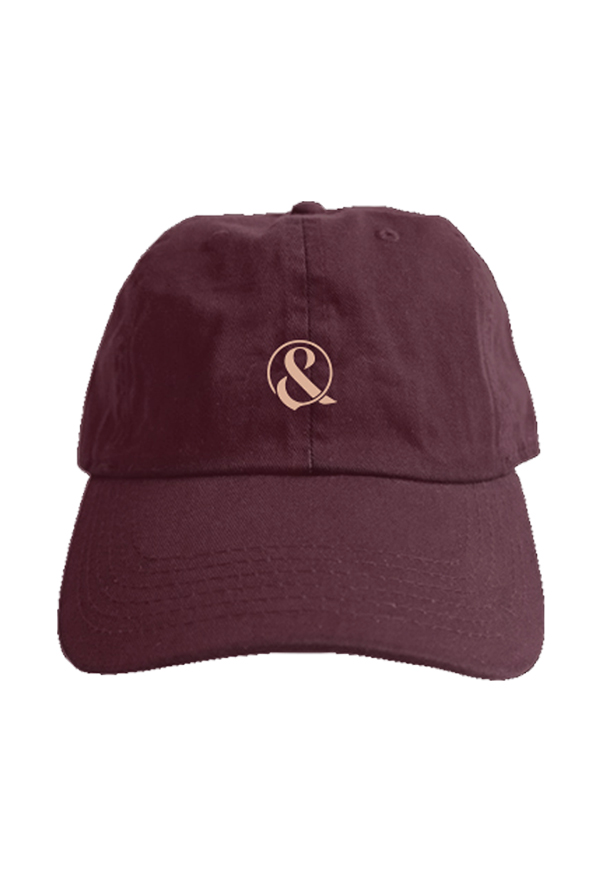 Ampersand Dad Hat (Burgundy)