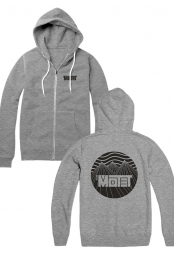 Mountain Zip Hoodie (Light Grey)