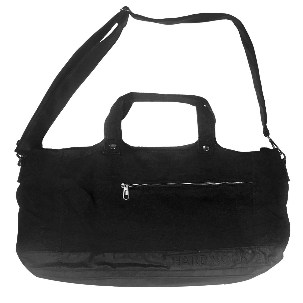 Denim Zip Tote Black 0