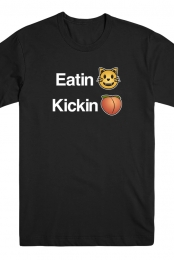 Eating Kicking Tee (Black)