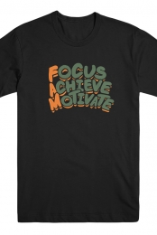 Focus Achieve Motivate Tee (Black)