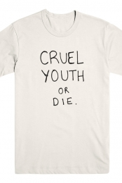 Cruel Youth Or Die Tee (Cream)