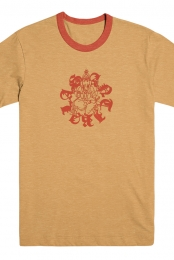 Ganesh Ringer Tee (Orange)