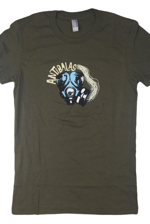 484f319cf Womens Gasmask Tee (Army) T-Shirt - Antibalas T-Shirts - Online Store on  District Lines