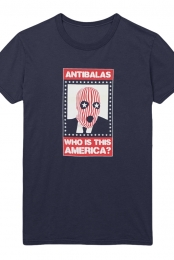 Womens Who Is This America Tee (Navy)