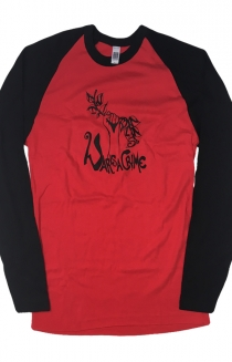 Womens War Is A Crime Raglan (Red/Black)