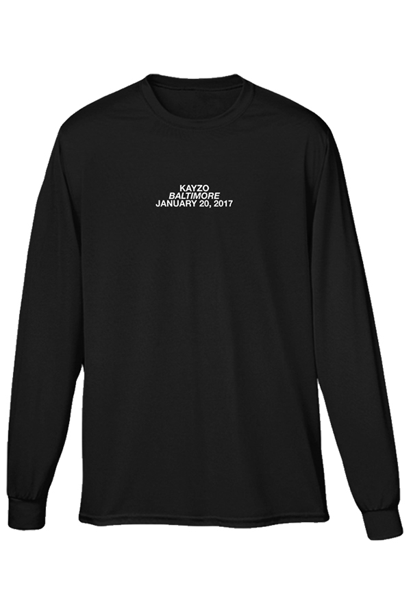 Baltimore Jan 20th Long Sleeve (Black)