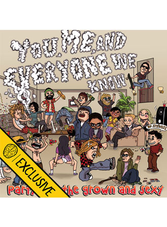 You Me and Everyone We Know - Party for The Grown & Sexy (Smartpunk Exclusive Yellow w/ White/Red/Blue Splatter /200)