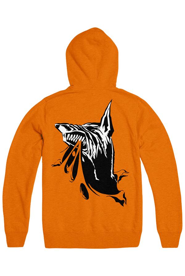 New York March 10th Hoodie (Safety Orange)