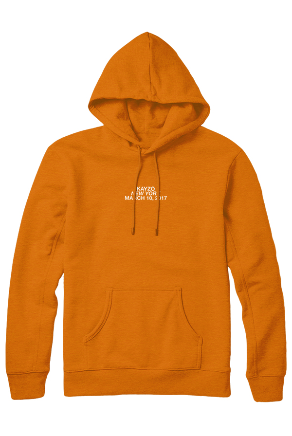 New York March 10th Hoodie (Safety Orange)