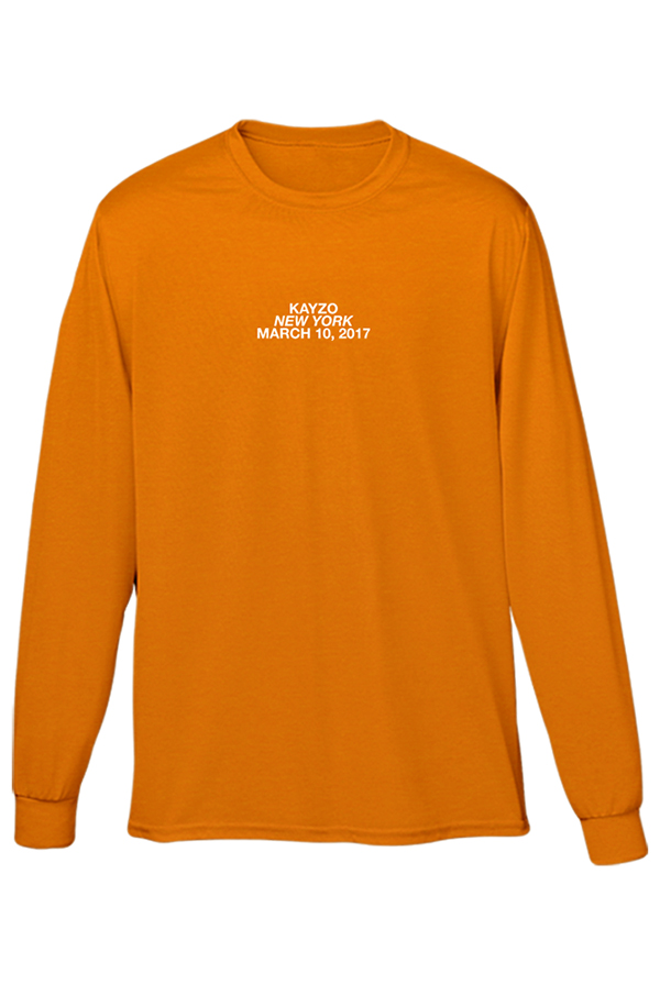 New York March 10th Long Sleeve (Safety Orange)