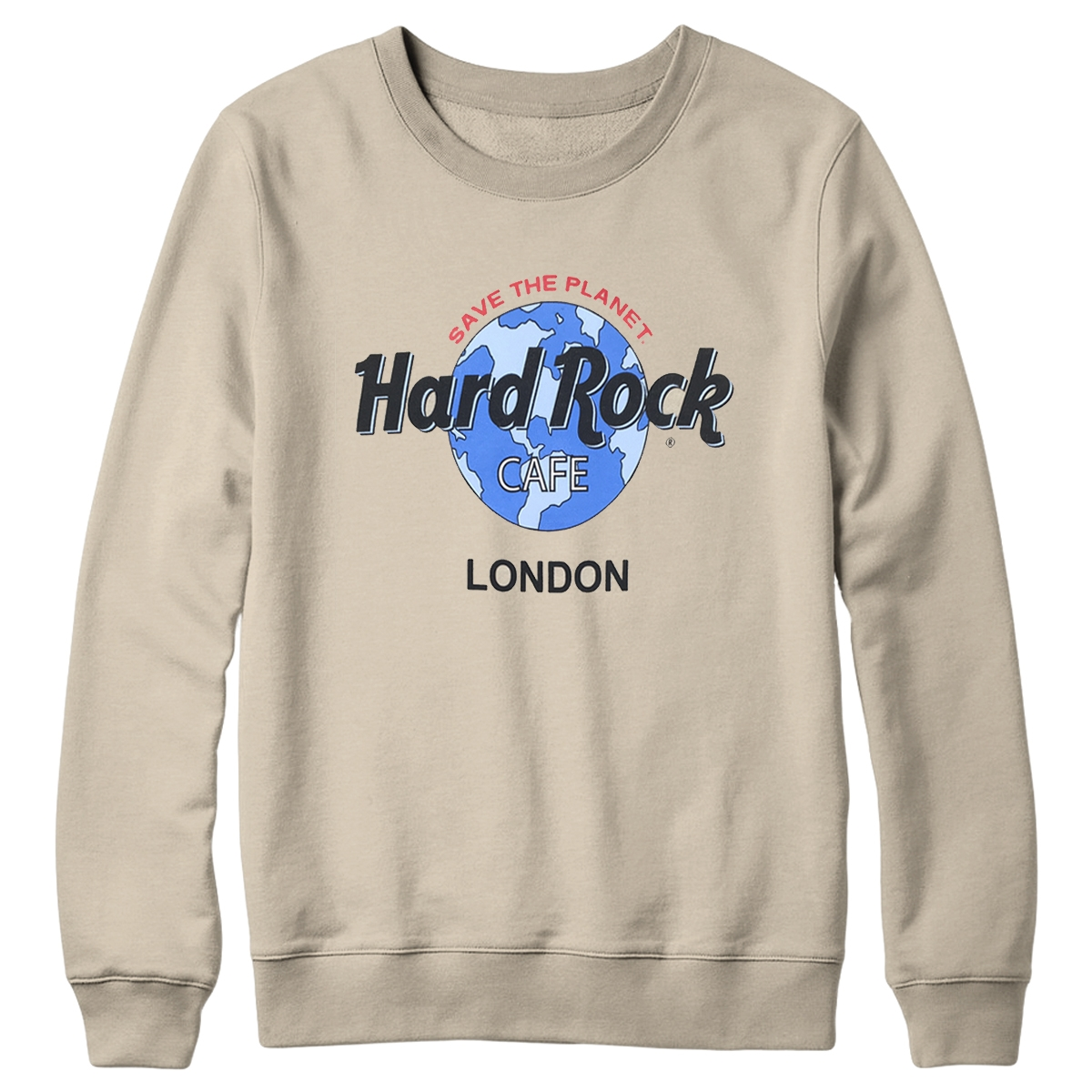 Retro Globe Logo Fleece Sand London 0