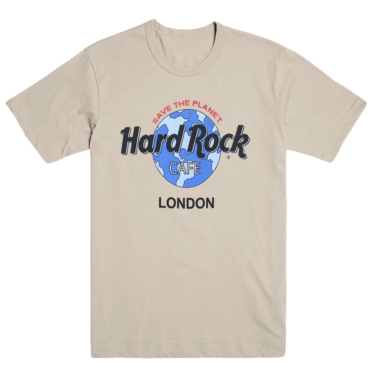 Retro Globe Logo Tee Sand London 0