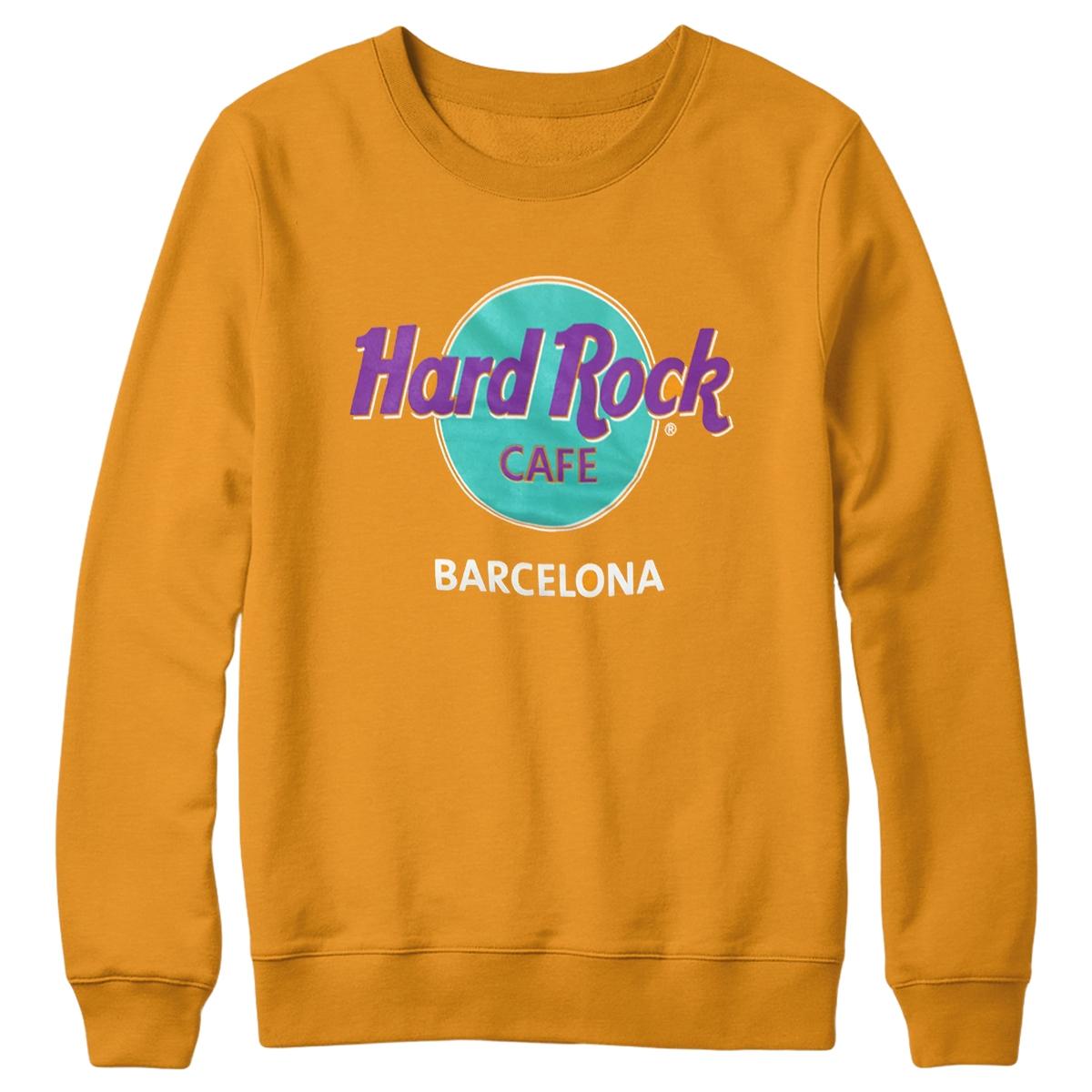 Hard Rock Cafe london sweatshirt crew neck jumper UylX852dJ
