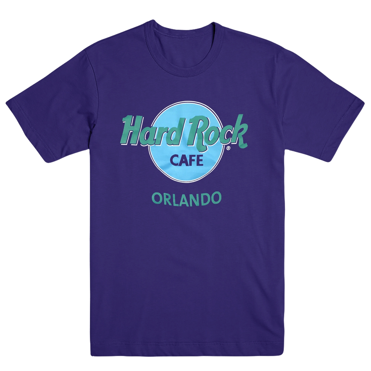 Retro Logo Tee Purple Orlando 0