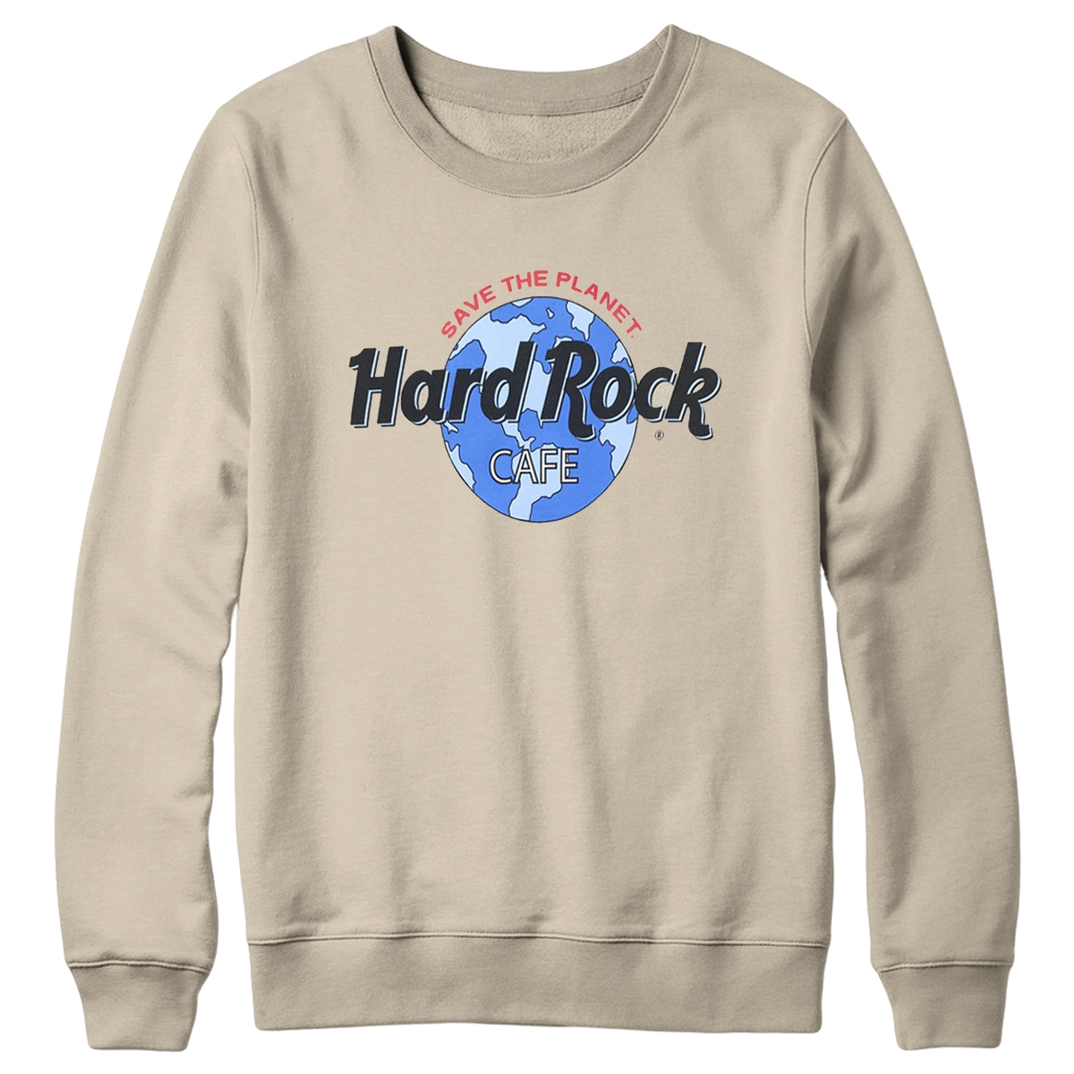 Retro Globe Logo Fleece Sand 0